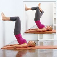 Do this for 2 weeks and watch your tummy and thighs shrink...and all you need is a wall and a yoga mat!.