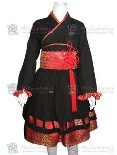 Japanese Girl Kimono Cosplay Costume for Sale
