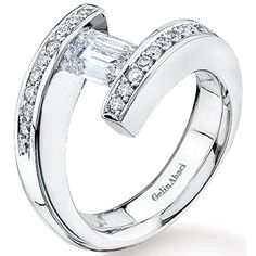 Bypass Tension-Set Engagement Ring by http://www.engagediamonds.com/