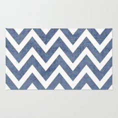 blue chevron Rug by Her Art - $28.00