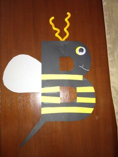 Letter B .... Bee (yellow B with black lines)