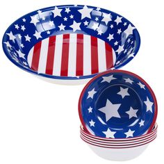Stars and Stripes 5 Piece Salad Serving Set