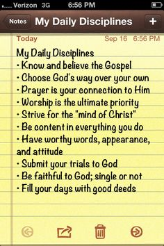 10 Disciplines of a Godly Women by Barbara Hughes, summarized by me :) all Christian women should follow these!