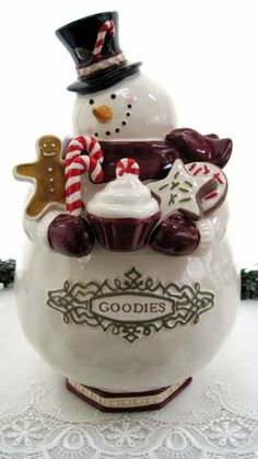 *SNOWMAN ~ Cookie Jar