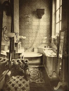 1884 | Bathroom of the young Princess Radziwill, Paul Nadar