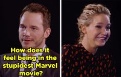 Jennifer Lawrence and Chris Pratt Roast the Sh*t Out of Each Other
