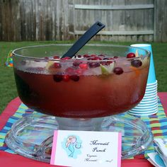 Mermaid punch - Food for Mermaids and Pirates Party