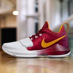 "An official look at the Nike PG 1 ""Hickory"" PE for @ygtrece"