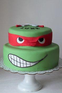 tortas de las tortugas ninjas con fondant