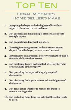 Are you as home seller or planning to sell your home in the next year? BE INFORMED! Here are the TOP TEN MISTAKES Home Seller Make. Share this awesome article so others can benefit as well. Questions About HOME SELLING? CALL ME TODAY at 281-733-5867 for your FREE CONSULTATION.