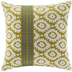 HH Suzanna Medallion Throw Pillow ($58) ❤ liked on Polyvore featuring home, home decor, throw pillows, white, geometric home decor, white toss pillows, embroidered throw pillows, white accent pillows and patterned throw pillows