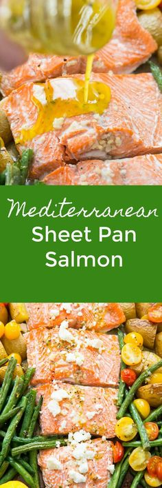 This Mediterranean salmon is my favorite way to eat salmon I bet it will be yours too! The recipe is so easy and so good! You are going to add it to your menu often!