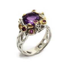 Ring mit Amethyst Amethyst, Engagement Rings, Jewellery, Floral, Flowers, Sapphire, Stones, Silver, Ring
