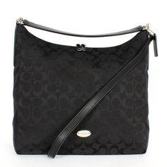 d2b3f6f54a ... Shoulder HandBag Coach 12CM Signature Celeste Convertible Black  HoboShoulder Bag - httpweddingcollections ...