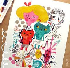 Helen Dardik – water coloring orangeyoulucky.blogspot.co.il