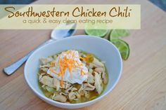 "Clean Eating & Easy. Southwestern Chicken Chili. Where I Talk About The One Domestic ""Chore"" I Loathe Most And #eMealsToTheRescue!"