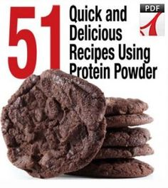 "protein powder cookie recipe-   1 – 1.5 scoops chocolate protein powder  1 Egg White  Water until it forms a wet ""dough""    Instructions: Insert the batter into the two greased bowls and microwave for 15-20 seconds. Enough to make two cookies."