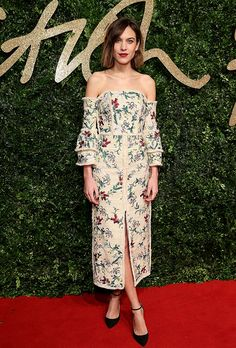 Surprise! Alexa Chung Is Launching her own FashionLine | Browse 20 looks that epitomize Chung's quirky-cool, boy-meets-girl style | @stylecaster | gorgeous off-the-shoulder dress