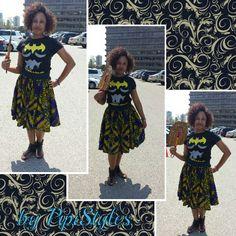 Afri print skirt