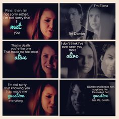 """ I AM NOT SORRY"" Elena and Damon"