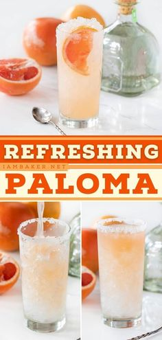 A Paloma is a refreshing summer cocktail recipe that gets its kick from a shot of tequila. Freshly squeezed grapefruit and lime juice make it a little extra special! Try this alcoholic drink for summer! Summer Drink Recipes, Easy Drink Recipes, Cocktail Recipes, Refreshing Cocktails, Summer Cocktails, Paloma Recipe, Vodka Lemonade