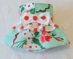 Female Dog Diaper Skirt  Perfect for your dog in Season and House Training Roses and Red Dots by piddleronthewoof on Etsy