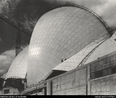 Max Dupain, Sydney Opera House in construction, Sydney, 1972