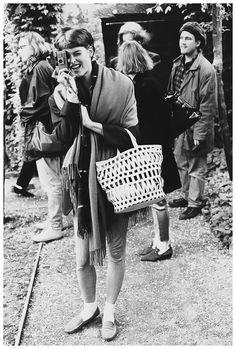 Linda Evangelista with Rollei Photo Arthur Elgort 1991