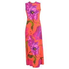 Ken Scott Vibrant Tropical Print Sheath | From a collection of rare vintage day dresses at https://www.1stdibs.com/fashion/clothing/day-dresses/