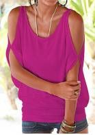Cut Out Sleeve Summer Top