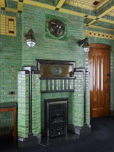 Amazing Buildings, Modern Buildings, Amazing Architecture, Architecture Details, Art Nouveau, Art Deco Fireplace, Delft, Amsterdam School, Rotterdam