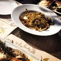 Crab, spices and steamed rice!! Phenomenal.. At Villa Mamas, Bahrain