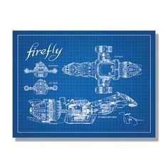 Firefly Serenity Blueprint Science Fiction & Fantasy