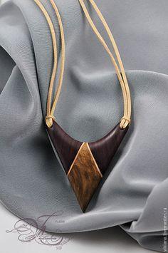 """Купить Кулон деревянный """"Эль"""" - коричневый, амарант, кулон, подвеска, оберег, амулет, деревянный, натуральный"""