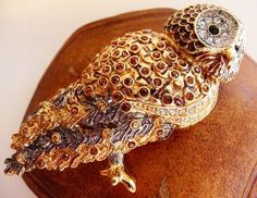 Nolan Miller owl pin brooch  Glamour Collection  retired