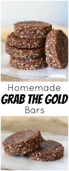 to make, cheaper, and delicious homemade Grab the Gold Bar recipe.Easy to make, cheaper, and delicious homemade Grab the Gold Bar recipe. Healthy Bars, Healthy Brunch, Healthy Treats, Healthy Breakfasts, Eating Healthy, Clean Eating, Nutritious Snacks, Healthy Food, Protein Snacks