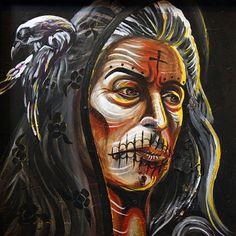 El Pesame by Pablo Damas Tribal Witch Doctor Tattoo Canvas Art Print – moodswingsonthenet