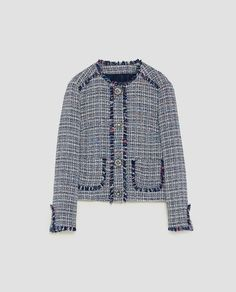 Image 8 of TWEED JACKET WITH GEM BUTTON from Zara