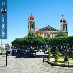 #Follow @travelninjaguide: Granada Nicaragua Cathedral #Granada #Nicaragua #ILoveGranada #AmoGranada #Travel #GranadaNicaragua