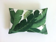 One Tropical Banana Palm Pillow Cover Leaves Outdoor Pillow Dark Green Lumbar Hawaiian Green Zipper Pillow Banana Palm, Green Banana, Outdoor Fabric, Outdoor Pillow, Indoor Outdoor, Green Pillows, Golden Girls, Turquoise, Tropical Leaves