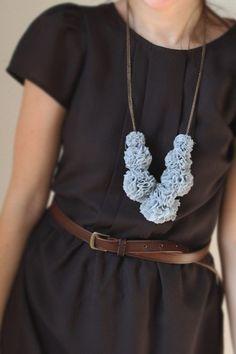 Seven pompom necklace