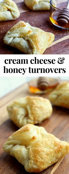 Cream Cheese & Honey Turnovers | Oh yum! As you bite into the puff pastry, there's a lovely crunch from the buttery, flaky crust. The honey-vanilla cream cheese filling is smooth and creamy