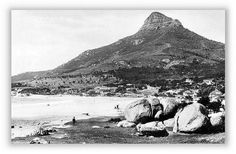 Camps Bay history in photos. Take a trip down memory Lane to find out more about the area around your Cape Town Holiday Villa. Cape Town Holidays, Bay News, History Photos, Camps, Mount Rainier, Lions, Past, Villa, Mountains