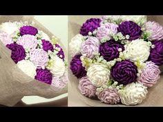 Hướng dẫn làm hoa bằng giấy nhún đơn giản - YouTube