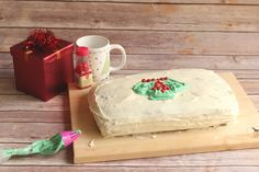 Bake up one of the most fun Christmas dessert recipes with this recipe for Easy Eggnog Ugly Sweater Cake! This is one of the best recipes with eggnog because while you can taste a hint of the holiday drink, it's really subtle. Best Christmas Desserts, Best Christmas Cookies, Christmas Goodies, Christmas Cakes, Holiday Foods, Holiday Recipes, Christmas Holidays, Christmas Ideas, Xmas