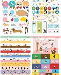 Free shipping-8 Sheets Korea DIY Kawaii Diary PrettyZoo Animals Sticker Set - Deco Translucent Sticker Set Oyang,http://www.amazon.com/dp/B00A9DWT9I/ref=cm_sw_r_pi_dp_CVQ9sb1YZDFXSGPF