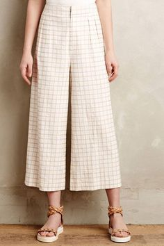 A form-flattering pair of culottes doesn't necessarily have to be skin-tight, either. A non-bulky, lightweight fabric in an A-line shape still has the same enhancing effect on the waist and butt. #refinery29 http://www.refinery29.com/culotte-shopping-guide#slide-15