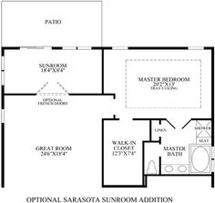 Master suite additions on pinterest master suite for Laundry room addition floor plans