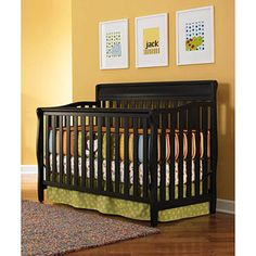 Graco - Stanton 4-in-1 Convertible Fixed-side Crib, Black