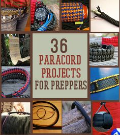 36 Paracord Projects For Preppers | Survival Life Prepping Ideas http://survivallife.com/2014/03/14/36-paracord-projects-preppers/